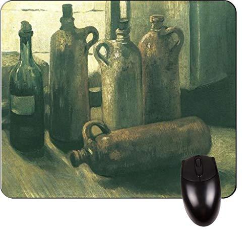 Vincent Van Goghs Stillleben mit Steingut, Flasche und Clogs - Vincent Willem Van Gogh / Postimpressionist / Postimpressionismus / Niederländisch / Niederlande / Frankreich / Französisch / Painter-Squ