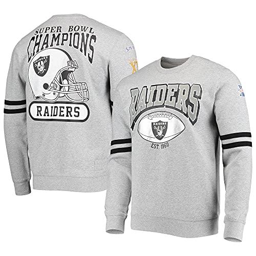Mitchell & Ness Oakland Raiders All Over Print NFL Crewneck Pullover Grau, M
