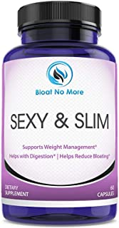 Sponsored Ad - Bloat No More: Sexy & Slim - Digestive Enzyme Dietary Supplement - 60 Capsules | Helps Your Overall Digesti...