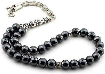 TheTasbih Pri/ère Perles Noir Musulman Tasbih Citrus Bois 8/mm avec 10/CT comptoirs Perles Bloque