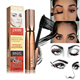 ARTIFUN 3D Black Mascara 24h Waterproof Smudgeproof Durable Curling Slim Dense Eyelash Cream Eye Makeup
