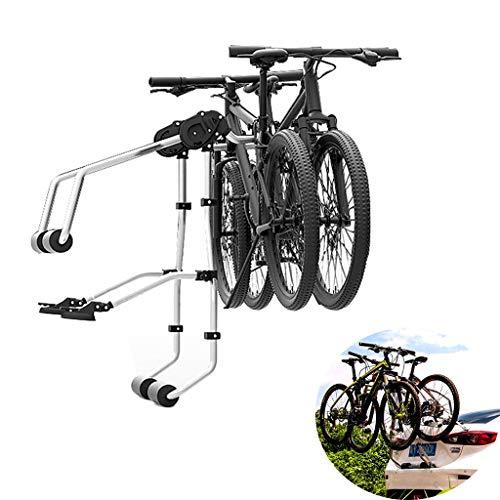 Fahrradständer Universeller Fahrradträger für Autos - 2 Fahrradversionen - Maximale Belastung 70 kg, hinterer Träger-Fahrradträger aus legiertem Stahl, für Autos/Limousinen/Schrägheck/LKW/SUV