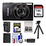 Canon PowerShot Elph 360 HS WiFi Enabled Optical Zoom Digital Camera Crystal Clear Images 32GB Memory Card Extra Battery Charger Extra Battery Flexible Tripod for Canon Ultimate Camera Bundle