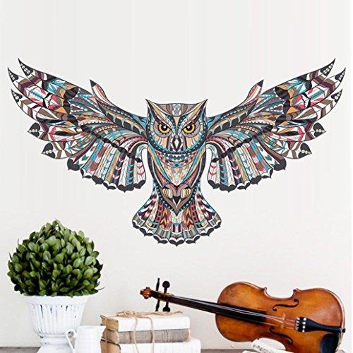 YOYOUG - Adhesivo decorativo para pared con diseño de águila y búho, para habitación de animales, para decoración de pared, extraíble