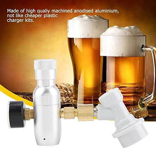 Regler CO2-laderkit 16 g regelaar laderkit gas scheiden Home Bier Kegerator (0-150 psi)
