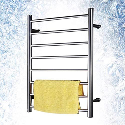 Radiador de baño Eléctrico, Railleñas de riel de toallas con calefacción Calentador de toallas, Riel de toallas con calefacción, Toalla eléctrica Montado en la pared Mantenga sus toallas y ropa Dry To