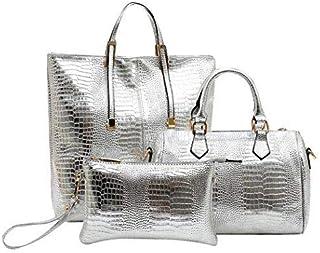 Large Crocodile Pattern Tote Bag (3 Pcs Set)