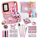 Set de Maquillaje para Niñas, Eleanore's Diary Kit de Maquillaje Niñas Lavables, Seguro y No Tóxico Cosméticos, con Maletin Maquillaje Niñas, Juego de rol Regalo de Princesa para Niñas de 3 años +