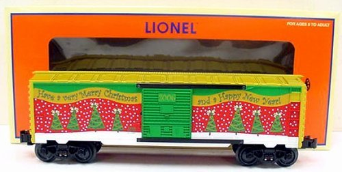 Lionel, 6-25008, 2006 Christmas Box Car, Die-cast Metal Sprung Trucks and Couplers, Stamped Metal Frame Diecast Metal Sprung Trucks