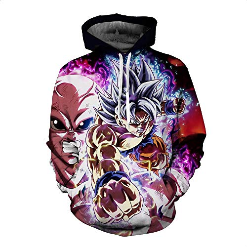 Preisvergleich Produktbild Lklik Sweatshirt Herren Und Damen Neutral Dragon Ball 3D Print Hoodie Sweatshirt-S