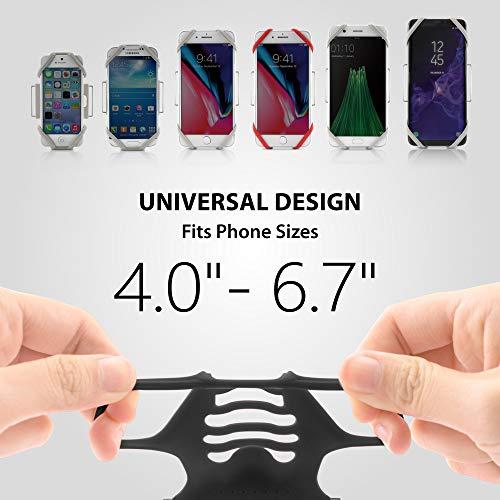 Boneランニングスマホアームバンドタッチ操作OK指紋認証OKケースのままOK洗えて清潔軽量通気性簡単着脱調節可能4〜6.7インチのスマホに対応iPhone11Pro/11ProMax/11/XS/XR/X/8/7/7PlusXperiaXZ3GalaxyS10S9S8Note9等多機種対応ブラック(S)RunTieBone