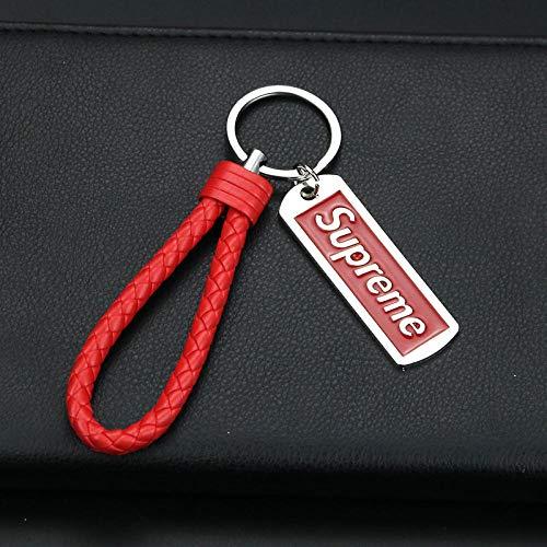Ykun Gezeiten Marke Schlüsselbund, Supreme Anhänger Auto Schlüsselbund, personalisierte kreative Schlüsselanhänger Kette-A16