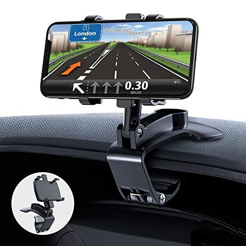 GESMATEK Soporte Móvil Coche, soporte para teléfono para automóvil ajustable y giratorio de 360 grados,adecuado para teléfonos inteligentes de 4 a 7 pulgadas.