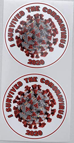2 - I Survived The Coronavirus Decal Adesivi by SBDdecals.Com