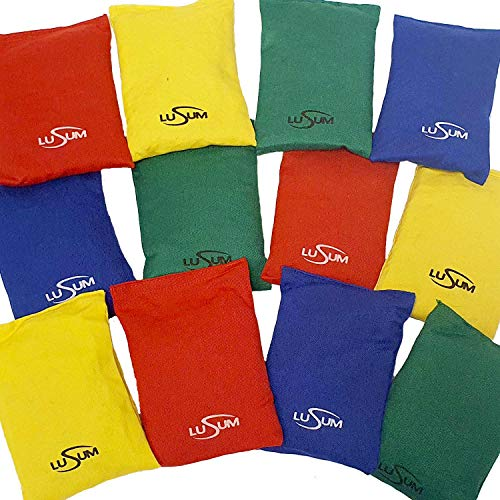 Lusum Bean Bags Filled with Original Natural Maize Kernels and Stay Fresh Bag for School Sports