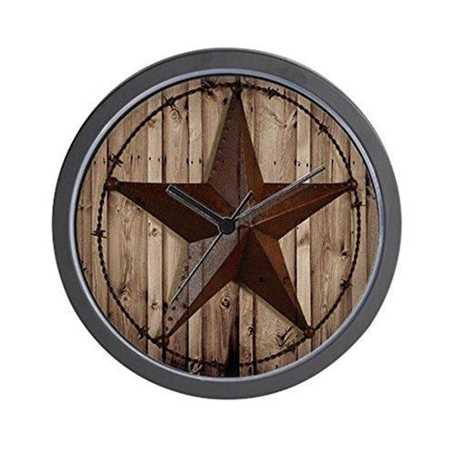 "CafePress - Western Texas Star - Unique Decorative 10"" Wall Clock"