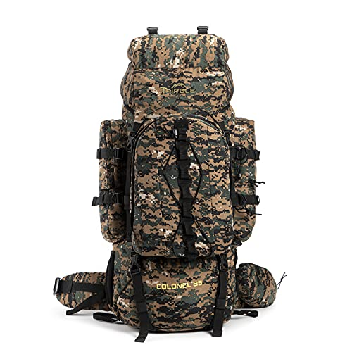 Tripole Colonel 85 Litres Rucksack + Detachable Day Pack, Digital Camouflage