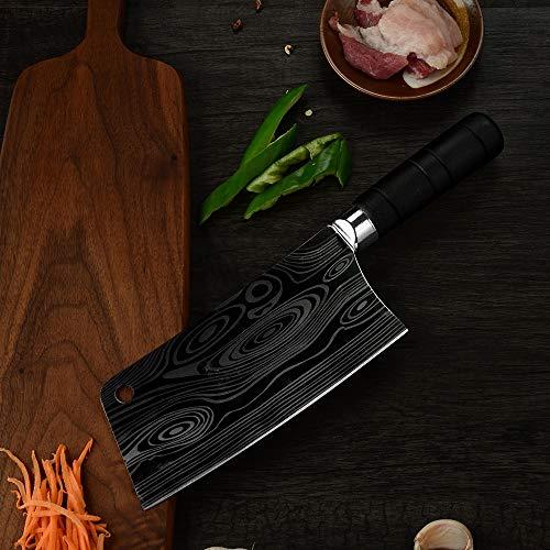 Nouveau Couteau de cuisine Couteau Couperet Hacher os de haute qualité Couteaux de cuisine en acier inoxydable Accessoires de cuisine avec un couvercle protecteur Couteau du chef