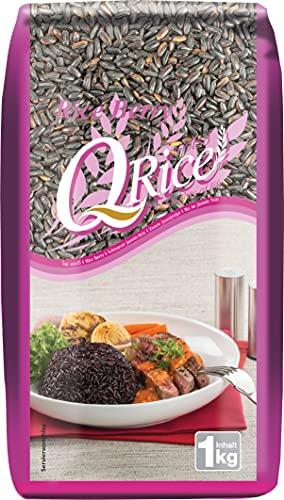 Q RICE Rice Berry – Schwarzer Jasminreis, aromatisch, exotisch, Ideal für asiatische Gerichte – 1 x 1 kg