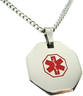 My Identity Doctor - Pre-Engraved & Customizable Blood Thinners Alert Medical ID Necklace - Made in USA