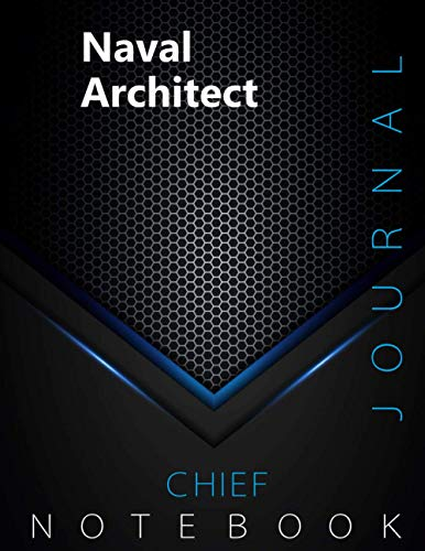 """Chief Naval Architect Journal, CNA Notebook, Executive Journal, Office Writing Notebook, Daily Decisions & Action Items Notebook, 140 pages, 8.5"""" x 11"""", Glossy cover, Black Hex"""