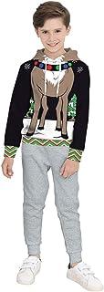 COCO1YA(ココイチヤ) クリスマス 衣装 子供 男の子 パーカー スウェット上着 トナカイ柄 クリスマス用 トレーナー 秋 冬 カジュアル キッズ 110-150cm
