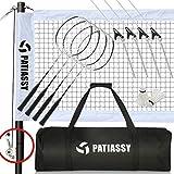 Patiassy Professional Badminton Set, Portable Outdoor Badminton...