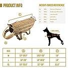 OneTigris Tactical Dog Molle Vest Harness Training Dog Vest with Detachable Pouches (Tan, X-Large) #4