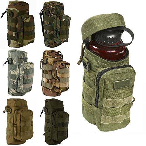 CAMTOA Military Tactical Wasserflasche Pot förmigen Wasser Bottle Pouch Tasche Zipper Fall Tasche Camo Ausrüstung für Radfahren, Wandern, Camping ACU