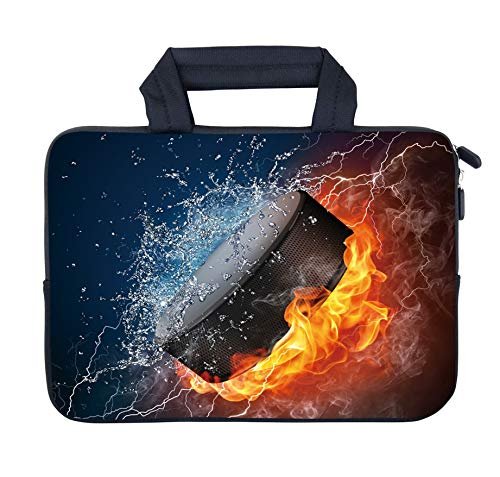 AMARY 11.6' 12' 12.1' 12.5 inch Laptop Handle Bag Neoprene Notebook Carrying Pouch Chromebook Sleeve case Ultrabook Case Tablet Cover Fit Apple MacBook Air HP DELL Lenovo Asus Samsung (Hockey)
