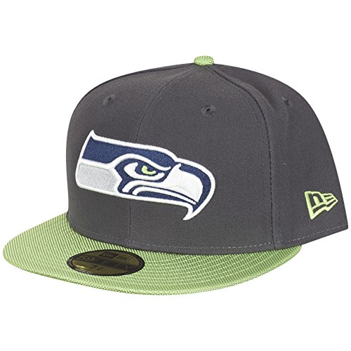 New Era Herren Fitted Caps NFL Ballistic Visor Seattle Seahawks grau 7 1/4-57,7cm