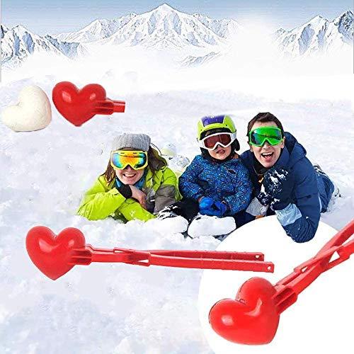 Parayung Herz Schneeball Maker Winterform Kunststoff Sandball Werkzeugclip Kinderspielzeug Für Outdoor Schneeball Kämpfe Schnell DIY