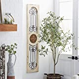 Deco 79 Wood Metal Wall Panel, 58 by 12-Inch
