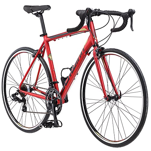 Schwinn Volare 1400 Adult Hybrid Road Bike, 28-inch wheel, aluminum frame, Red