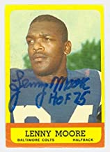 Lenny Moore AUTOGRAPH 1963 Topps Football #2 Baltimore Colts HOF '75 CARD IS G/VG; WAX, SL BEND
