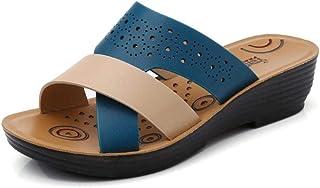 XL_nsxiezi Zapatillas de Mujer Sandalias Madre Zapatos Soft Bottom Slip