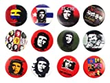 El Che Guevara (4) Impressionante Qualità Lotto 12 Nuovo Pin Pinback Button Badge 1.25 Pollici