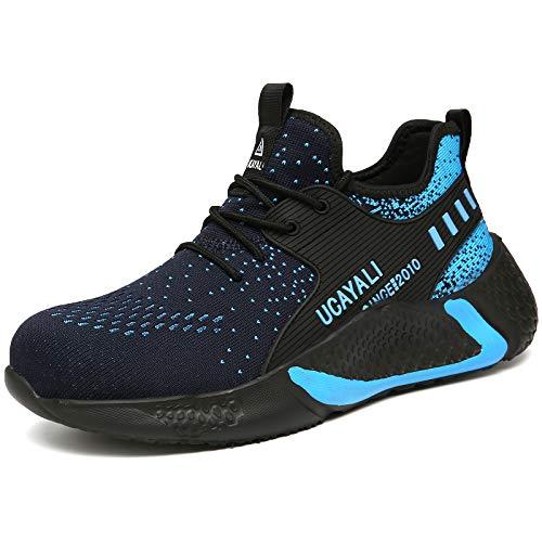 UCAYALI Sicherheitsschuhe Herren Arbeitsschuhe Damen Stahlkappe Schuhe Männer Schutzschuhe S3 Sportlich Anti-Punktion Sneaker Blau 110 Gr.44