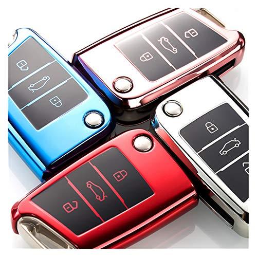 KUNYI Nuevo Cubierta DE Cara DE Coche DE Coches DE Coche Nuevo TPU Resistente al Desgaste Compatible con Volkswagen VW Golf 7 MK7 Seat Ibiza Leon FR 2 Altea Aztec Compatible con Skoda Octavia