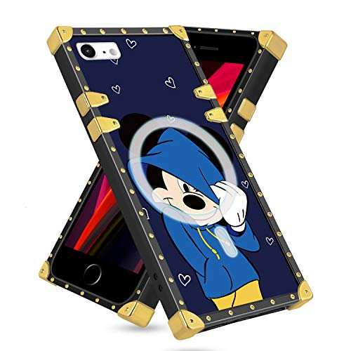 Disney iPhone 7/8/SE 2020 Case 4.7 inch Mickey Mouse Designer Support Magsafe built in Magnetic Ring Align with Magsafe Wireless Charger,Disney iPhone 7/8/SE 2020 Case Cute Cartoon Soft TPU Protective