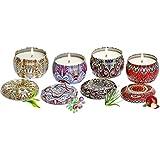 TOPVORK Juego de velas aromáticas sin humo para regalo de cera de soja natural, kit de velas de aromaterapia, decoración del hogar, regalo de cumpleaños para mujeres