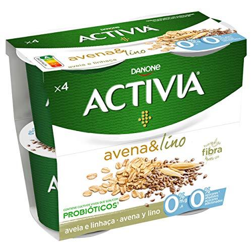 Activia Avena y Lino 0% 4x120 g