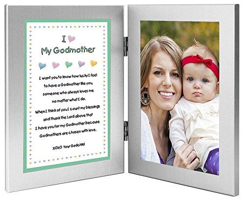 Baptism, Birthday or Christmas Gift for Godmother, Add Godchild Photo