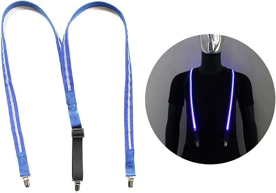 Lnrueg Utility Suspender Light up Glowing LED Fashion Adjustable Casual Y Shape Suspender Party Supply Trouser