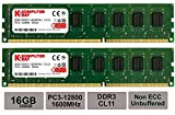 Komputerbay 16GB (2 x 8 GB) DDR3 DIMM de 240 PC3-12800 1600MHz escritorio de memoria RAM pin 11-11-11-28 XMP listo