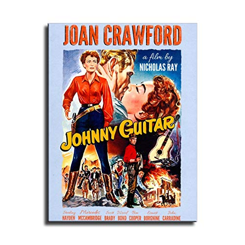FINDEMO Johnny Guitar (1958) Joan Crawford Wall Art Canvas for Home Decor Painting The Picture Print on Canvas Poster-215 (NO Framed,8x12inch)