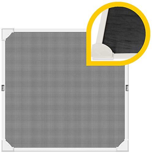 Schellenberg 50743 Insektenschutz-Fenster Magnetrahmen mit Pollenschutzgitter 100 x 120 cm Fliegengitter für Fenster, Weiß