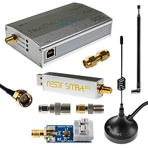 NooElec NESDR Smart XTR HF Bundle: Ensemble Radio Défini par Logiciel 300Hz-2.3GHz pour LF/HF/UHF/VHF. Comprend Smart XTR RTL-SDR, Ham It Up Plus Upconverter, 3 Antennes, Balun, et Adaptateurs