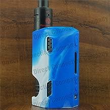 Silicone Case for DRIPBOX 160 Kanger Drip Box 160w Skin ModShield ByJojo Sleeve Cover Wrap (BLUE/WHITE)