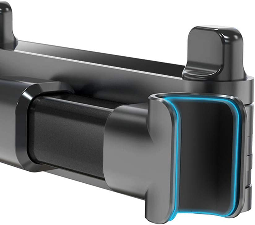 PTMD Car Rear Pillow Mobile Phone Holder Telescopic 360 Degree Rotating Universal Bracket Back Seat Headrest Mount Stand for Tablet Cellphone